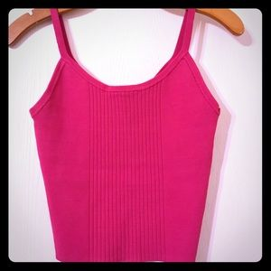 Bebe ribbed pink crop top